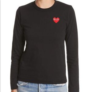 COMME DES GARCONS PLAY BLACK LONG SLEEVE